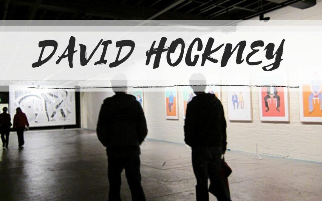 David Hockney vẽ chân dung bằng máy tính