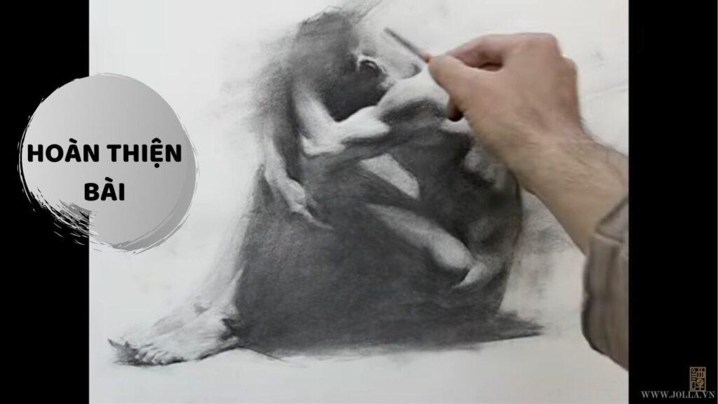 Học vẽ than