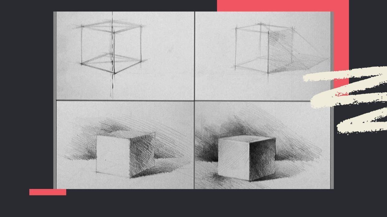 Vẽ bóng đổ của khối lập phương