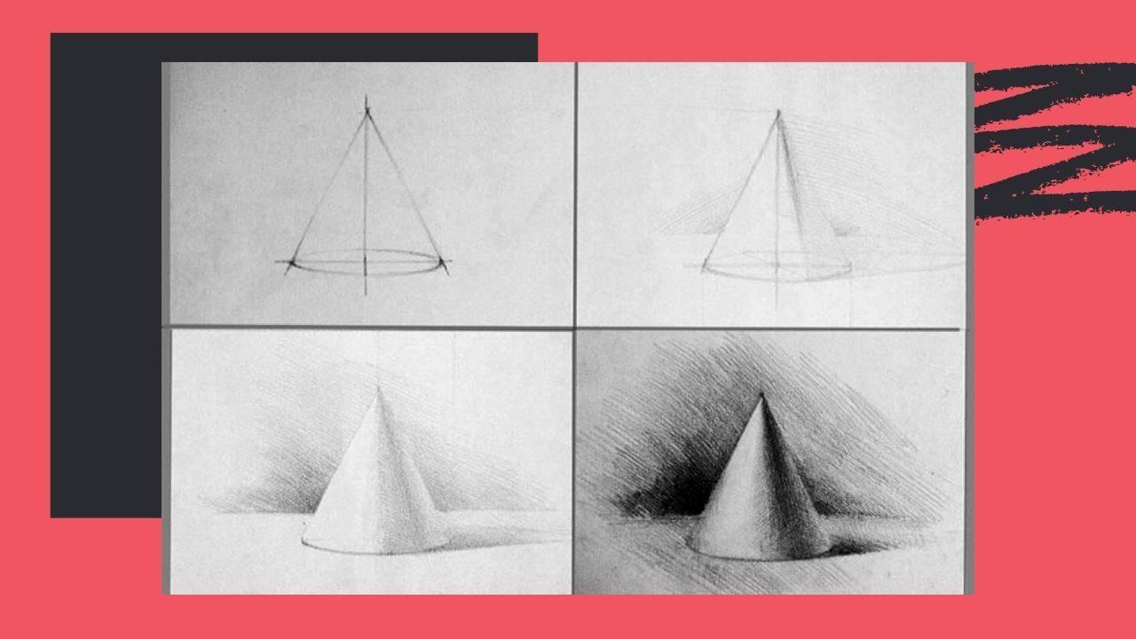 Vẽ bóng đổ của khối nón