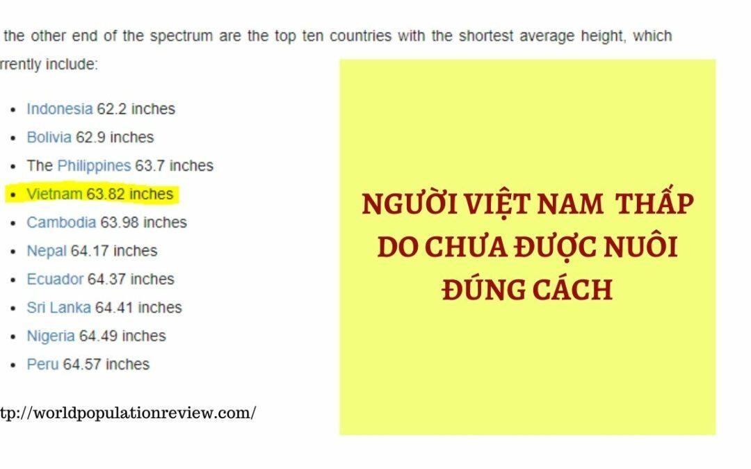 Người Việt thấp