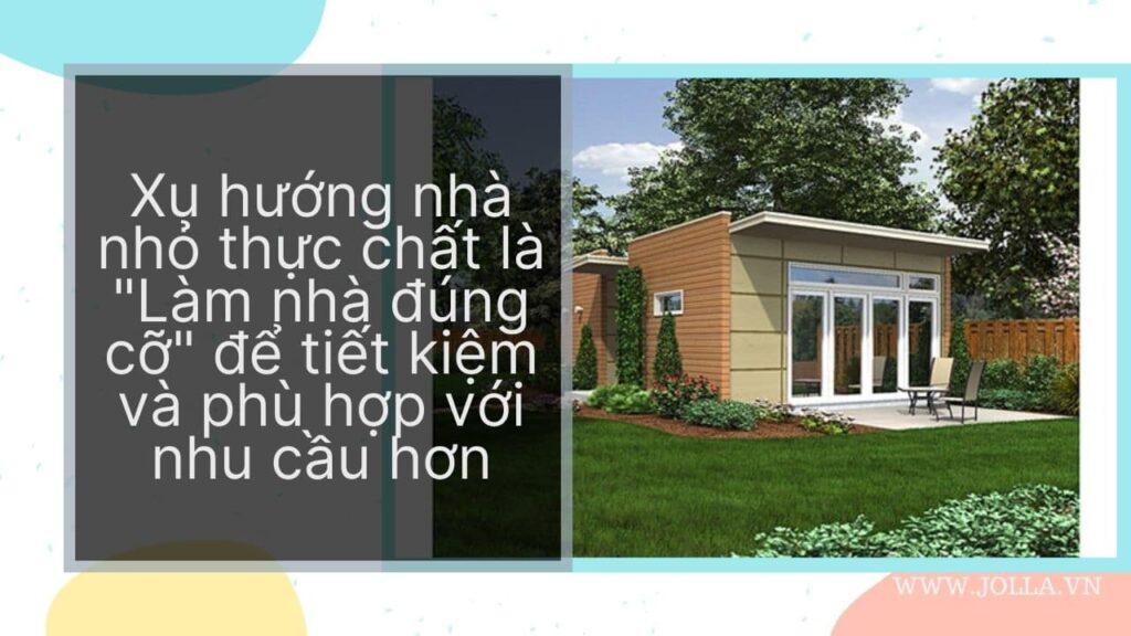 """Nhà nhỏ thực chất là """"Làm nhà đúng cỡ"""""""