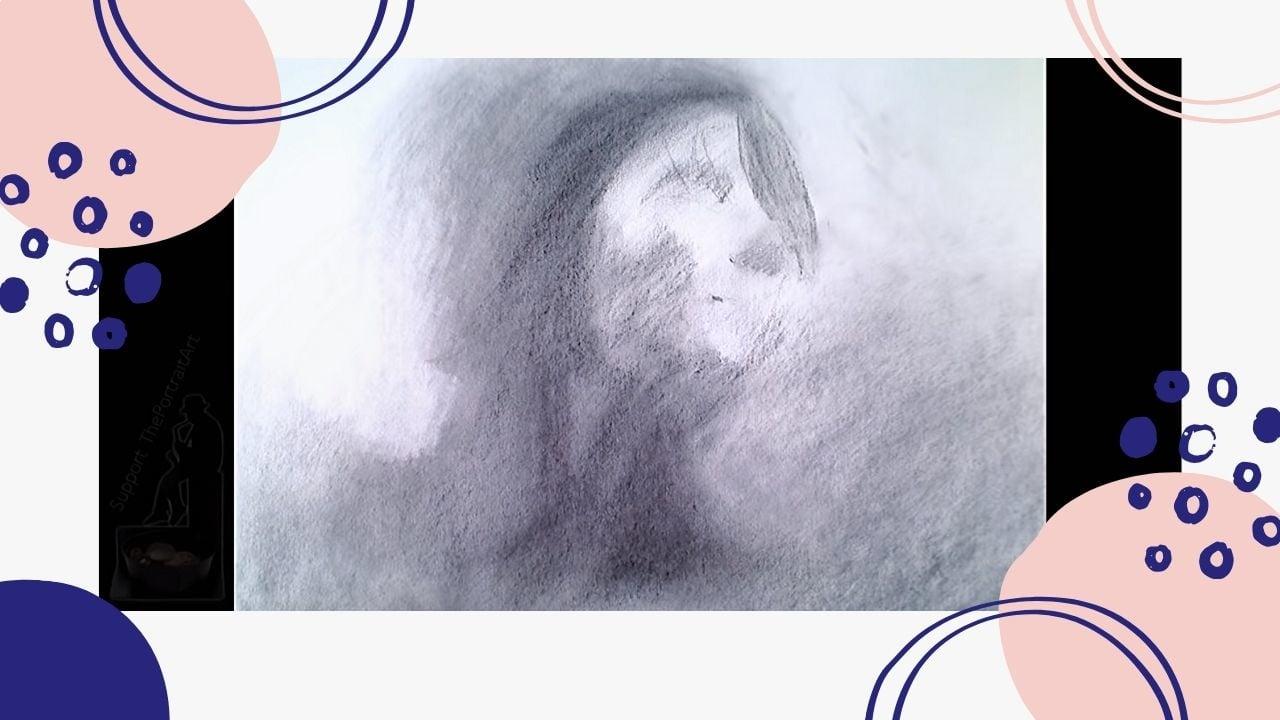 Cách vẽ chân dung cô gái - Phác thảo chân dung