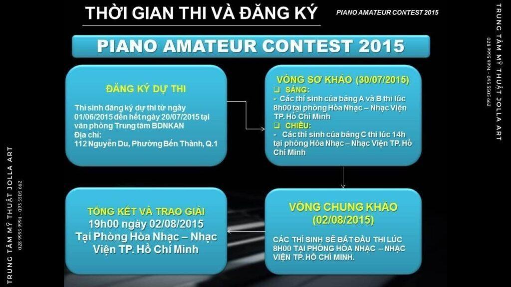 Thời gian thi và đăng kí Piano Amateur Contest 2015