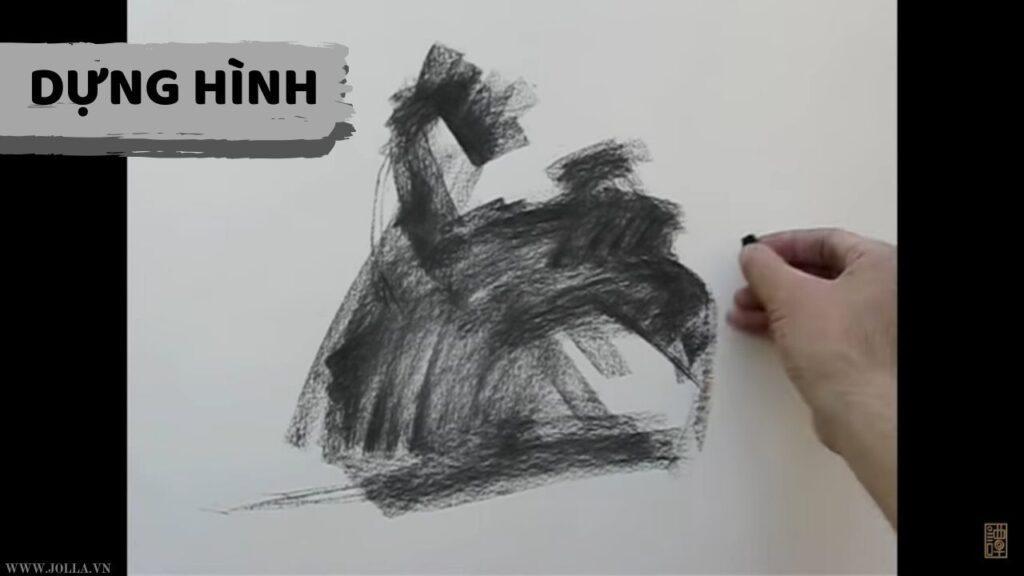 hướng dẫn vẽ nam toàn thân bằng than