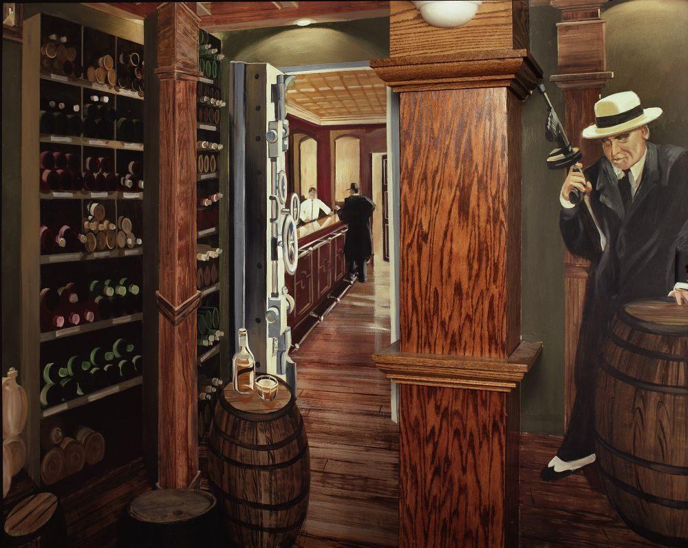 2324 3 wine cellar 50 - Vẽ Tranh Tường Nhà Hàng Bar