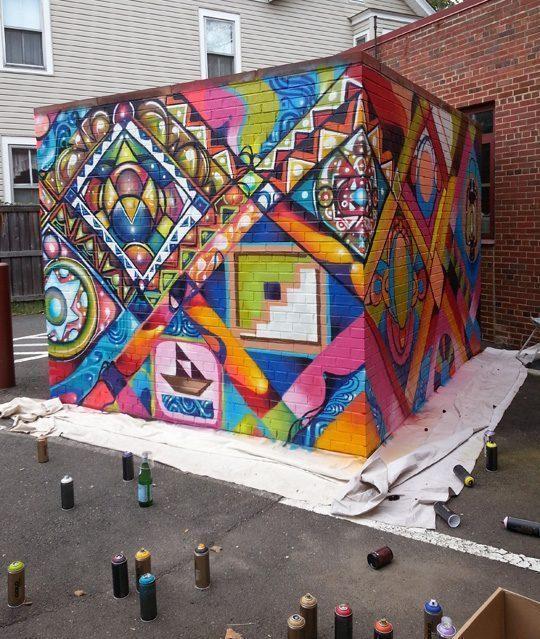 Arts Council Underground Railroad Mural - Vẽ Tranh Tường Ngoài Trời