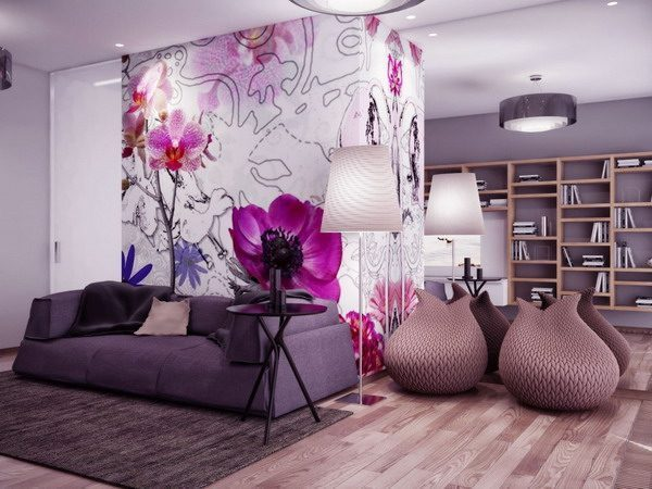 Beautiful-Large-Flowers-Living-Room-Murals-Painting-Ideas