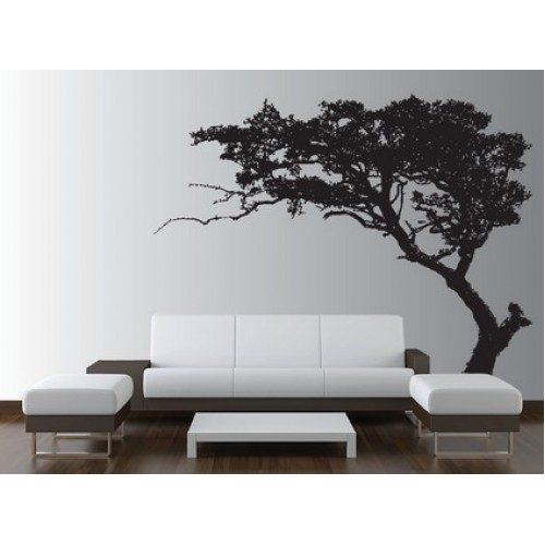 Black Trees Wall Stickers Art Decorating for Modern Living Room Wall Decor Design Ideas 500x500 - Vẽ Tranh Tường Phòng Khách
