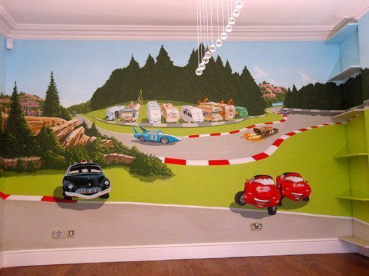 Cars-Murals-for-Boys-Bedroom-Decorating-Ideas-527x395