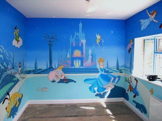 Cinderella Theme Kids Murals Design 527x395 - Vẽ Tranh Tường Phòng Bé
