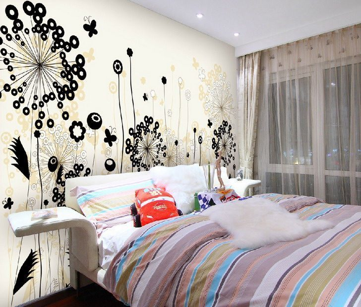 Contemporary Painting Wall Murals for Creativity - Vẽ Tranh Tường Phòng Ngủ