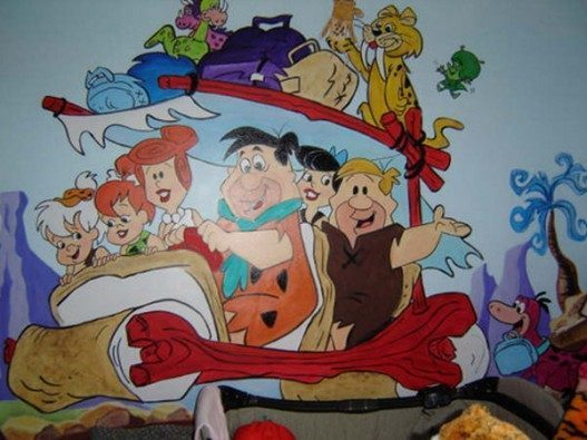 Flintsone-and-Family-for-Kids-Murals-Design-527x395