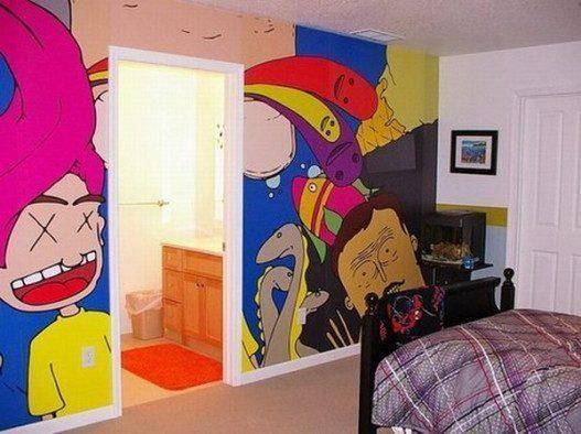 Funny Kids Wallpaper Murals 527x3941 - Vẽ Tranh Tường Phòng Bé