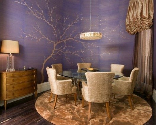 Minimalist-Dining-Murals-with-Decorating-Purple-Themes-527x421