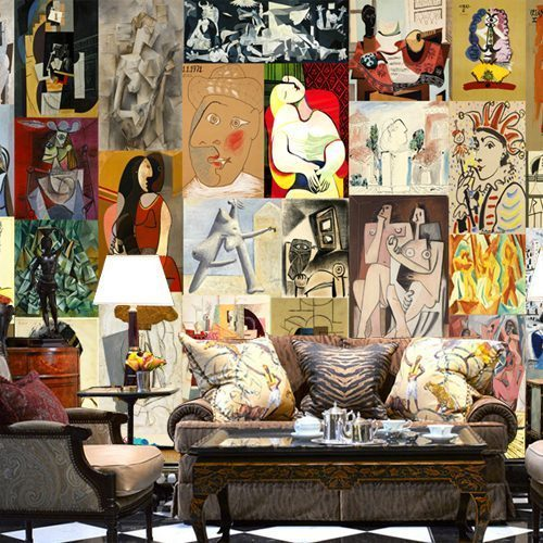 Mural Picasso painting the living room large mural wallpaper Cafe Bar Restaurant Lounge KTV wallpaper - Vẽ Tranh Tường Phòng Khách