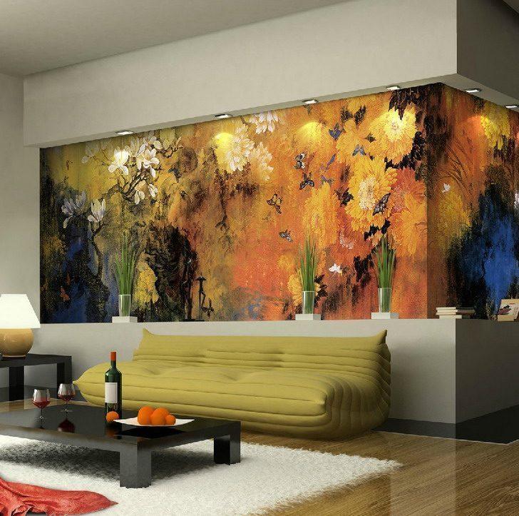 Nature Living Room Canvas Wall Murals1 - Vẽ Tranh Tường Phòng Khách