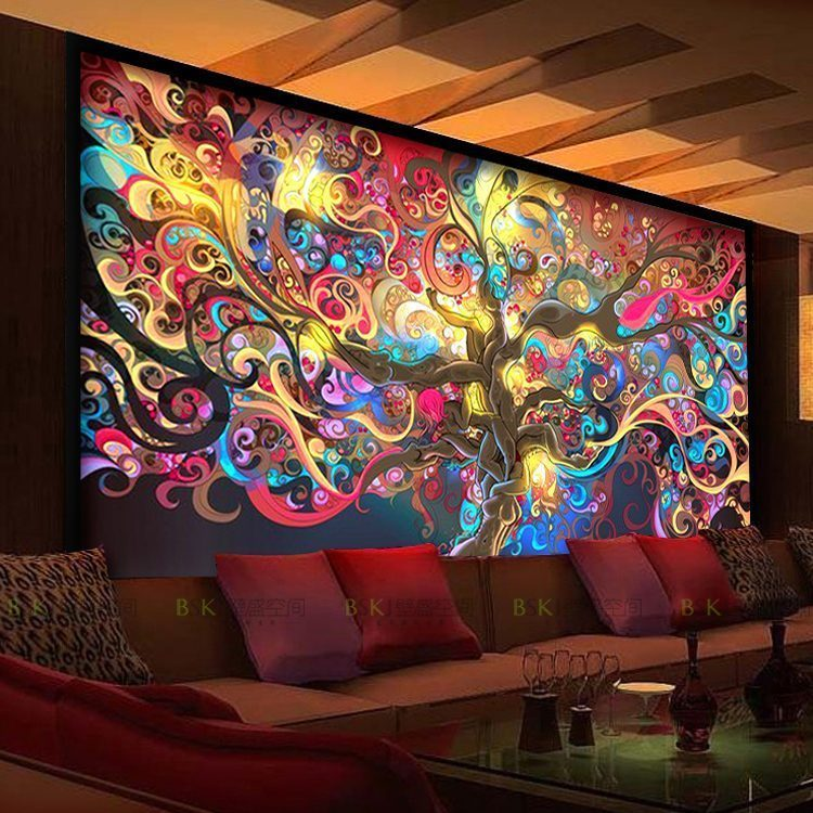 New Continental Hotel KTV large mural bar cafe salons 3d 3d font b wallpaper b font - Vẽ Tranh Tường Karaoke