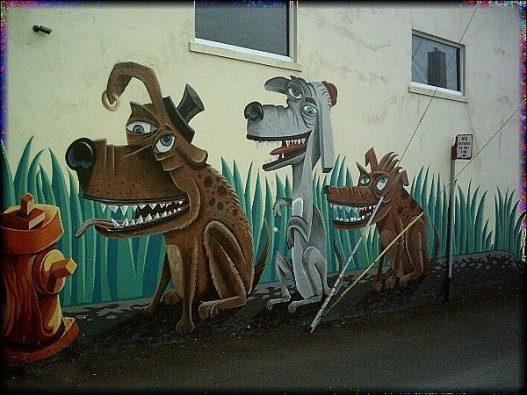 Nice Dog Wall Mural Art Decals 527x395 - Vẽ Tranh Tường Ngoài Trời