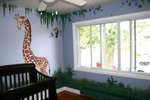 Nice-Jungle-Nursery-Wall-Murals-Theme-527x351