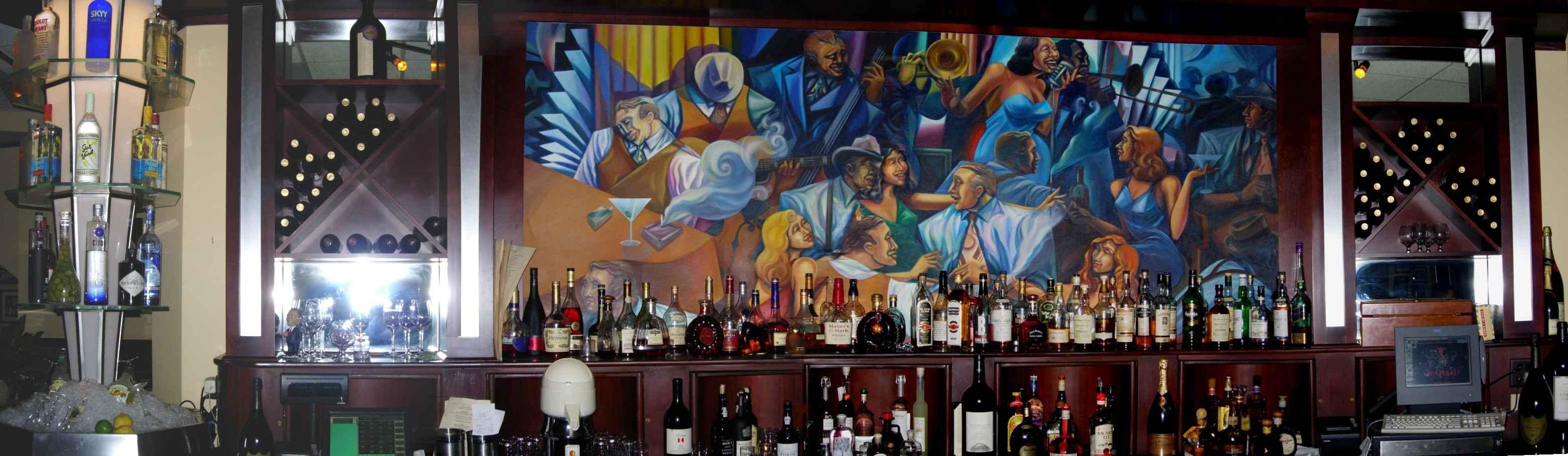 Phil Stefanis Bar Mural - Vẽ Tranh Tường Nhà Hàng Bar