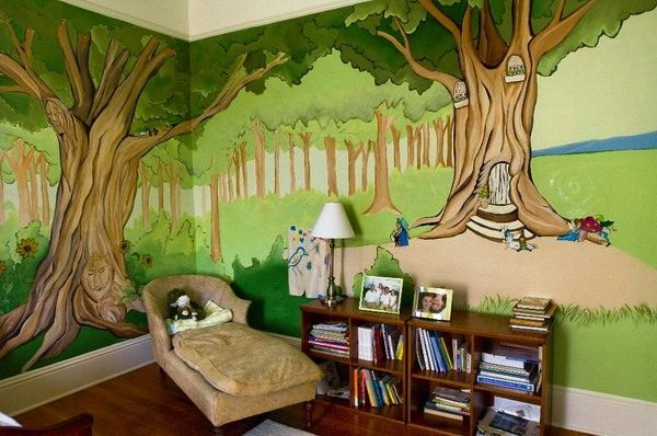 Tree-Kids-Home-Decorating-Ideas-Painting-Walls