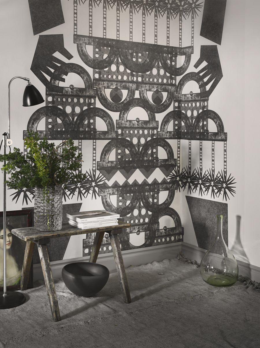 Wall mural inspired by ethnic symbols and patterns - Vẽ Tranh Tường Tiểu Cảnh