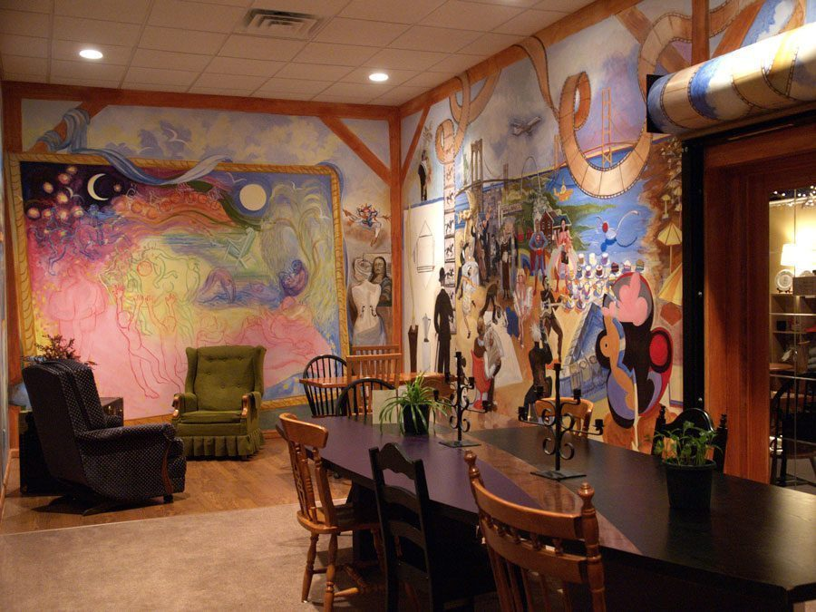 beanbag2web - Vẽ Tranh Tường Nhà Hàng Bar