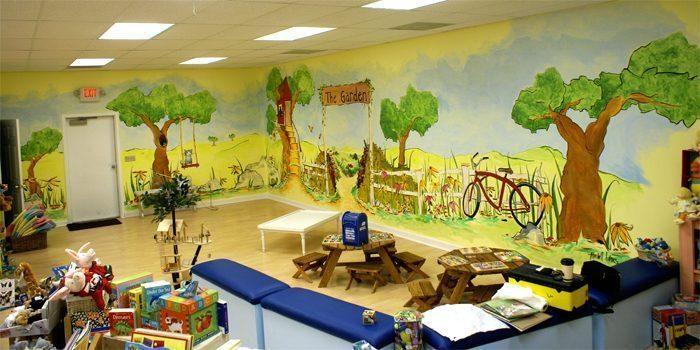 childrensgardensmall - Vẽ Tranh Tường Mầm Non Lớp Học