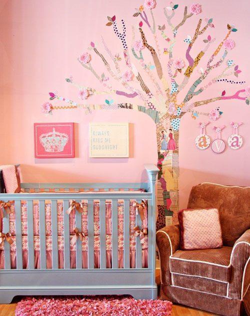 decoupage wall tree1 - Vẽ Tranh Tường Phòng Bé