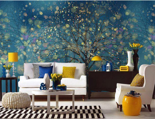 fantasy forest mural wallpaper 4 - Vẽ Tranh Tường Phòng Khách