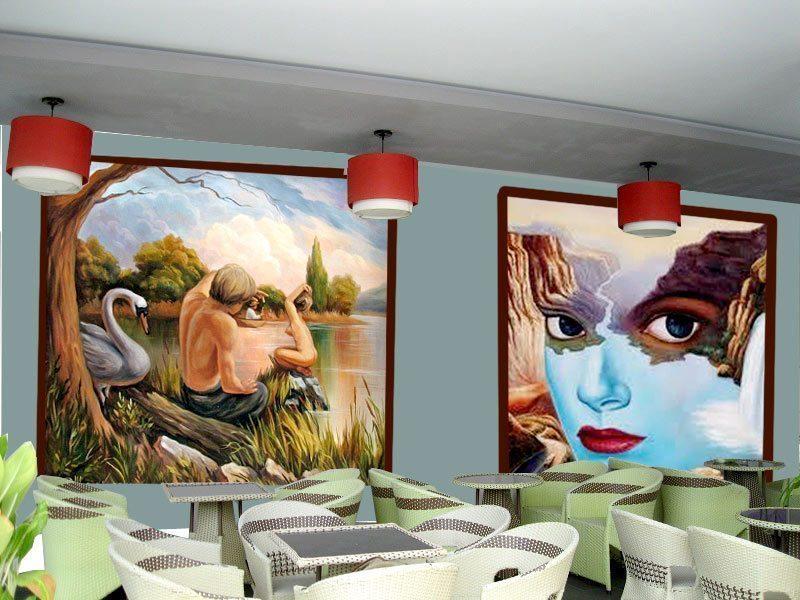 mau 13 - Vẽ Tranh Tường Quán Cafe