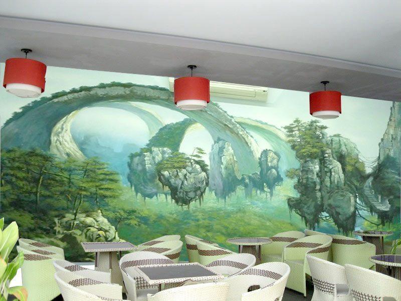 mau 16 - Vẽ Tranh Tường Quán Cafe