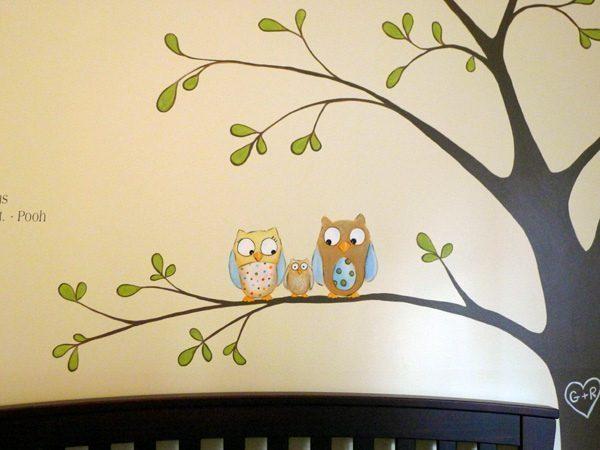 mural tree - Vẽ Tranh Tường Phòng Bé