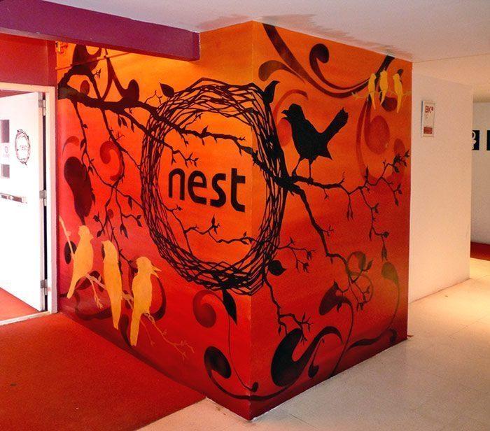 nest one1 - Vẽ Tranh Tường Tiểu Cảnh