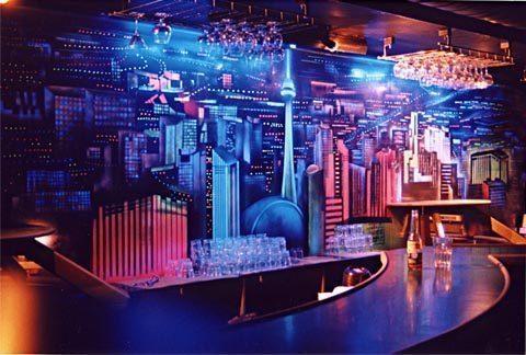 nightclub design flabar - Vẽ Tranh Tường Nhà Hàng Bar