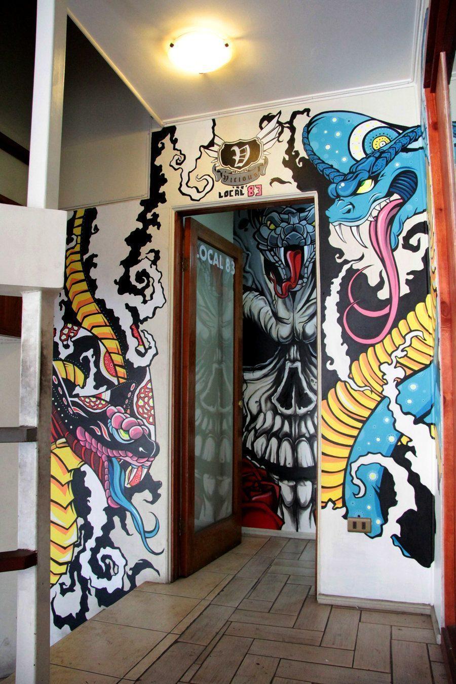 pintura mural  wall painting  by nikograffin d5bxf6h - Vẽ Tranh Tường Tiểu Cảnh