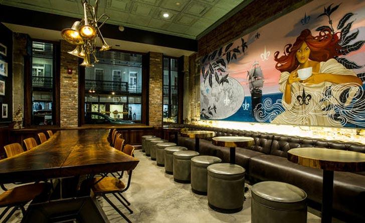 starbucks canal street NOLA store 7 - Vẽ Tranh Tường Quán Cafe