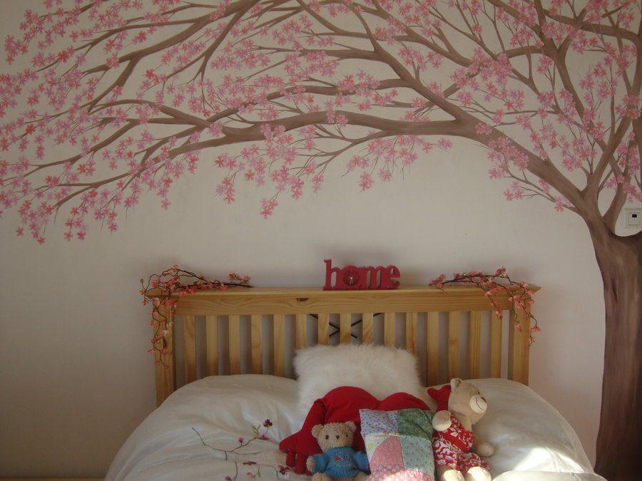 trang tri phong ngu - Vẽ Tranh Tường Phòng Ngủ