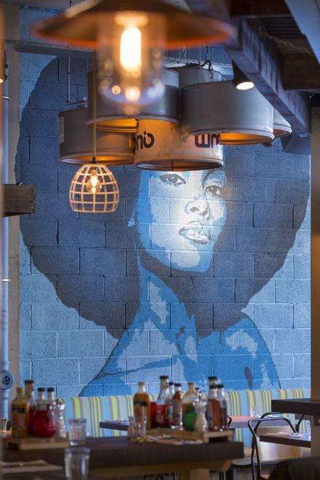 tranh tuong nha hang - Vẽ Tranh Tường Nhà Hàng Bar