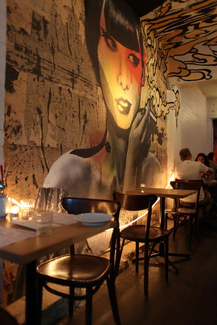 ve tranh dep - Vẽ Tranh Tường Nhà Hàng Bar