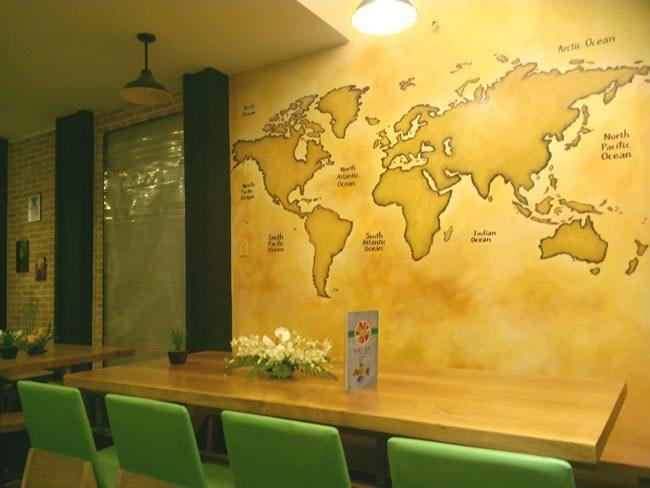 ve tranh trang tri tuong 3d - Vẽ Tranh Tường Nhà Hàng Bar