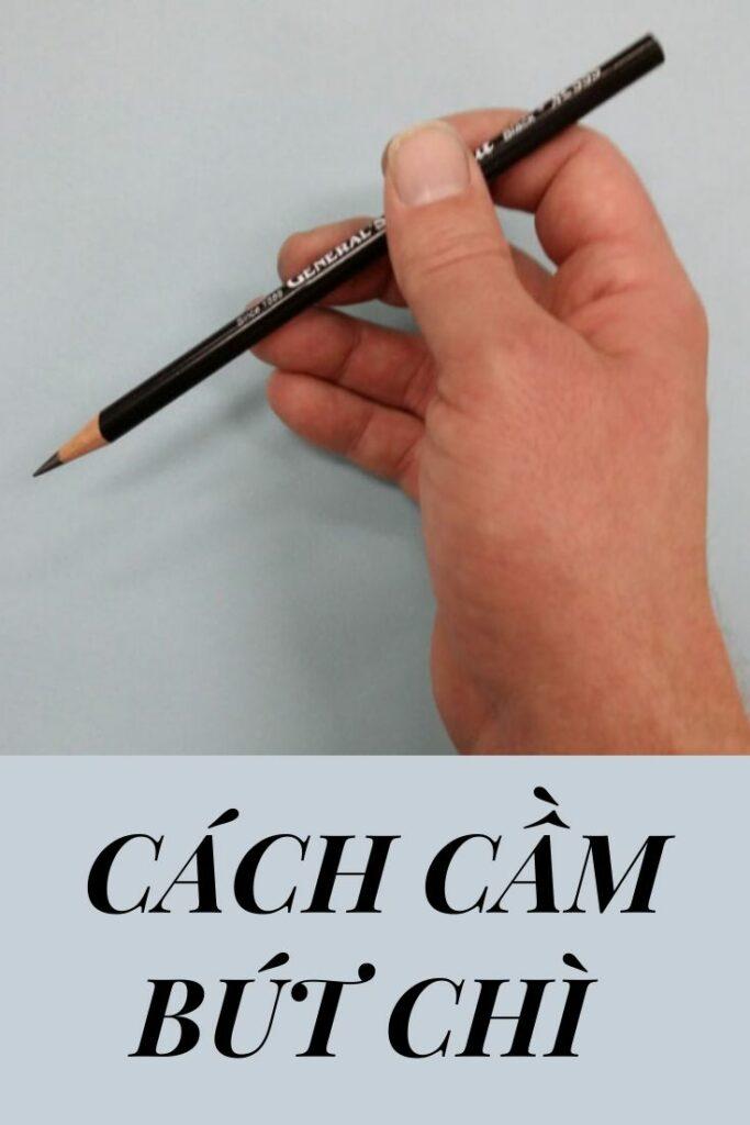 Cách cầm bút chì vẽ đường ngang