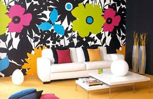 Nono Living Room Wall Design Painting Image - Vẽ Tranh Tường Phòng Khách