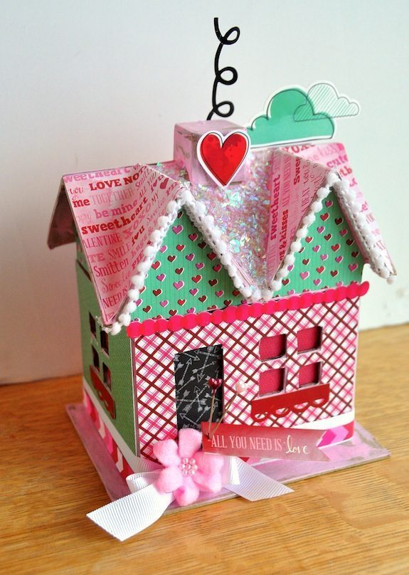 Valentines Day craft all you need is love decoupage house - Lớp Vẽ Thiếu Nhi