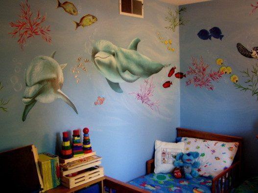 Walls Of The Sea Wild Design 527x395 - Vẽ Tranh Tường Phòng Bé