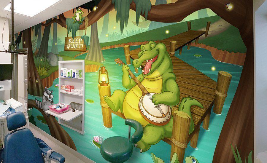 custom night mural treament 8 - Vẽ Tranh Tường 3D đẹp, giá rẻ tại TP.Hồ Chí Minh