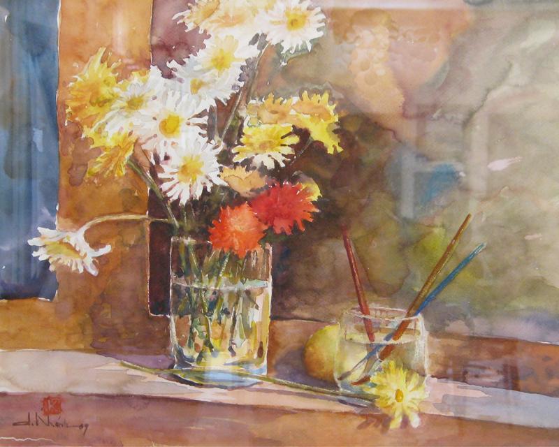 hoa cuc 3 - Lớp Dạy Vẽ Thiếu Nhi