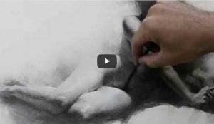 huong dan ve hinh hoa toan than mau don nu 300x174 - Hướng dẫn vẽ Nữ toàn thân bằng Than (Zimou Tan)