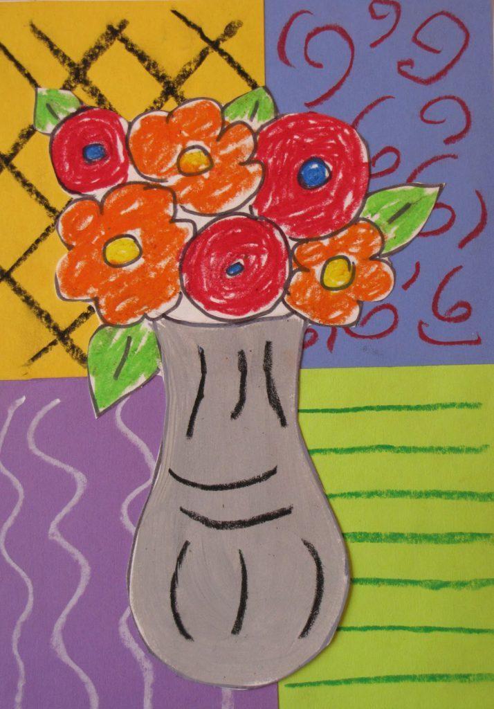 matisse flower vase preschool 714x1024 714x1024 - Lớp Dạy Vẽ Thiếu Nhi